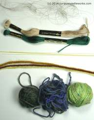 selection of yarns