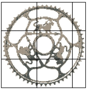Peugeot chainring pattern
