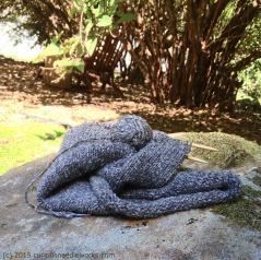 yarn on a rock