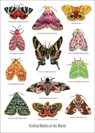 knitted-moths-a3-poster-outline